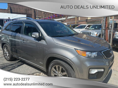 2012 Kia Sorento for sale at AUTO DEALS UNLIMITED in Philadelphia PA