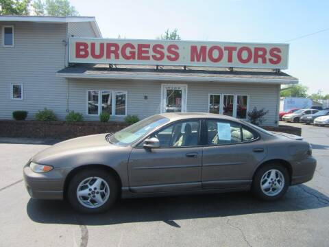 2002 Pontiac Grand Prix for sale at Burgess Motors Inc in Michigan City IN