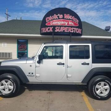2008 Jeep Wrangler Unlimited for sale at DICK'S MOTOR CO INC in Grand Island NE