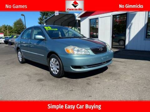 2005 Toyota Corolla for sale at Cars To Go in Portland OR