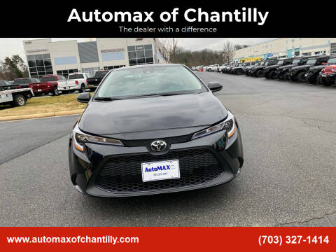 2021 Toyota Corolla for sale at Automax of Chantilly in Chantilly VA