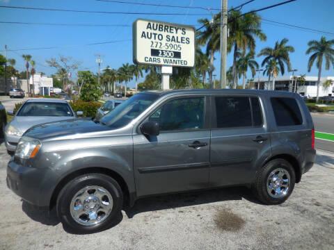 2011 Honda Pilot for sale at Aubrey's Auto Sales in Delray Beach FL