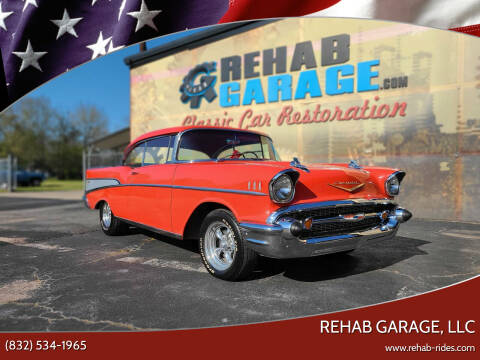 1957 Chevrolet Bel Air for sale at Rehab Garage, LLC in Tomball TX