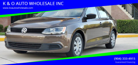 2011 Volkswagen Jetta for sale at K & O AUTO WHOLESALE INC in Jacksonville FL