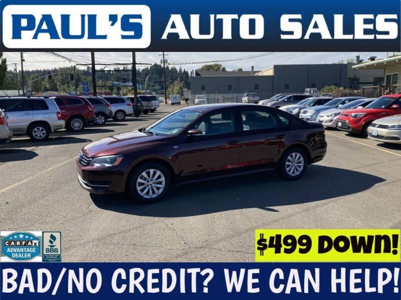 2014 Volkswagen Passat for sale at Paul's Auto Sales in Eugene OR