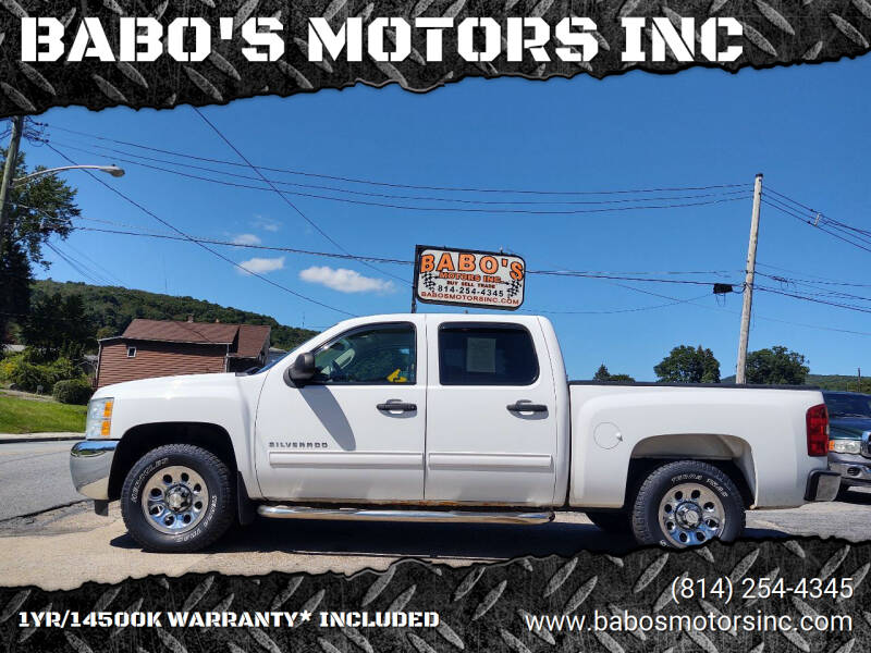 2012 Chevrolet Silverado 1500 for sale at BABO'S MOTORS INC in Johnstown PA