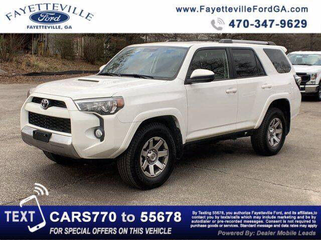 2015 Toyota 4Runner for sale at FAYETTEVILLEFORDFLEETSALES.COM in Fayetteville GA