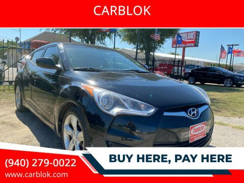 2013 Hyundai Veloster for sale at CARBLOK in Lewisville TX