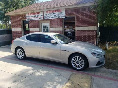 2014 Maserati Ghibli for sale at El Jasho Motors in Grand Prairie TX