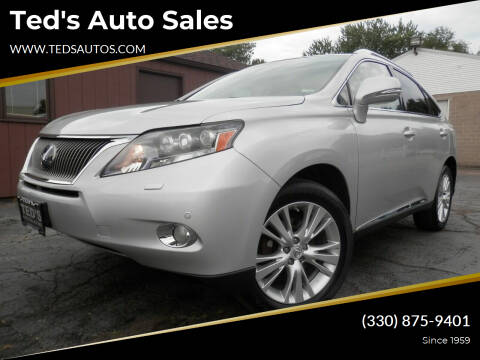 2010 Lexus RX 450h for sale at Ted's Auto Sales in Louisville OH
