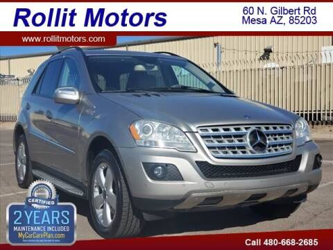 2009 Mercedes-Benz M-Class for sale at Rollit Motors in Mesa AZ