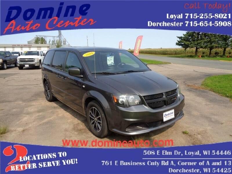2014 Dodge Grand Caravan for sale at Domine Auto Center in Loyal WI