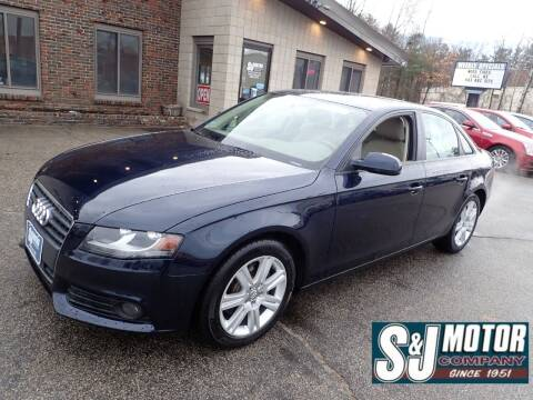 2011 Audi A4 for sale at S & J Motor Co Inc. in Merrimack NH