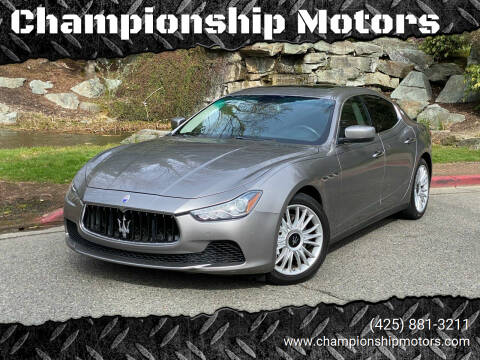 2014 Maserati Ghibli for sale at Championship Motors in Redmond WA