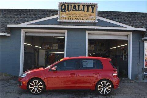 2012 Volkswagen GTI for sale at Quality Pre-Owned Automotive in Cuba MO