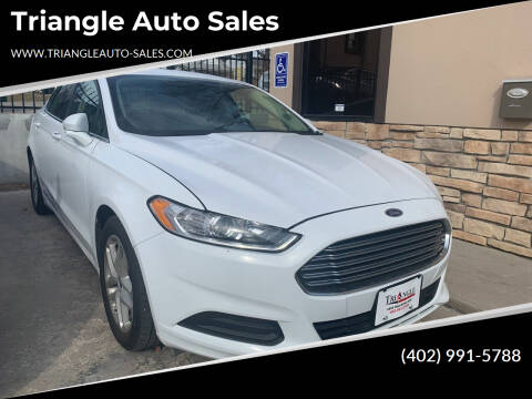 2016 Ford Fusion for sale at Triangle Auto Sales in Omaha NE