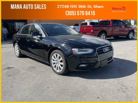 2013 Audi A4 for sale at MANA AUTO SALES in Miami FL