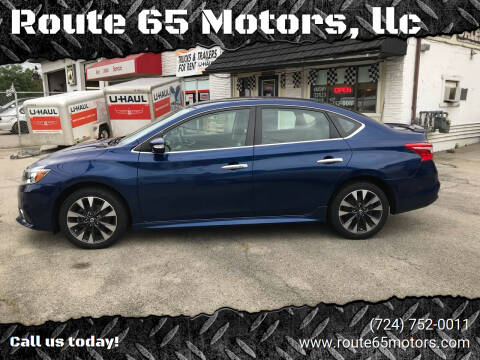 2016 Nissan Sentra for sale at Route 65 Motors, llc in Ellwood City PA