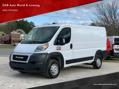 2020 RAM ProMaster Cargo for sale at DAB Auto World & Leasing in Wake Forest NC