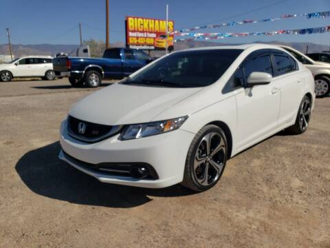 2015 Honda Civic for sale at Bickham Used Cars in Alamogordo NM
