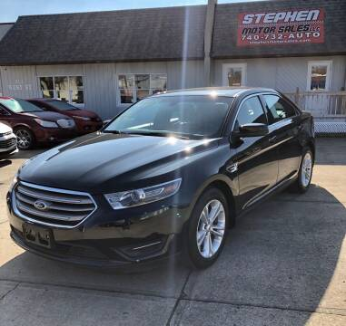 2015 Ford Taurus for sale at Stephen Motor Sales LLC in Caldwell OH
