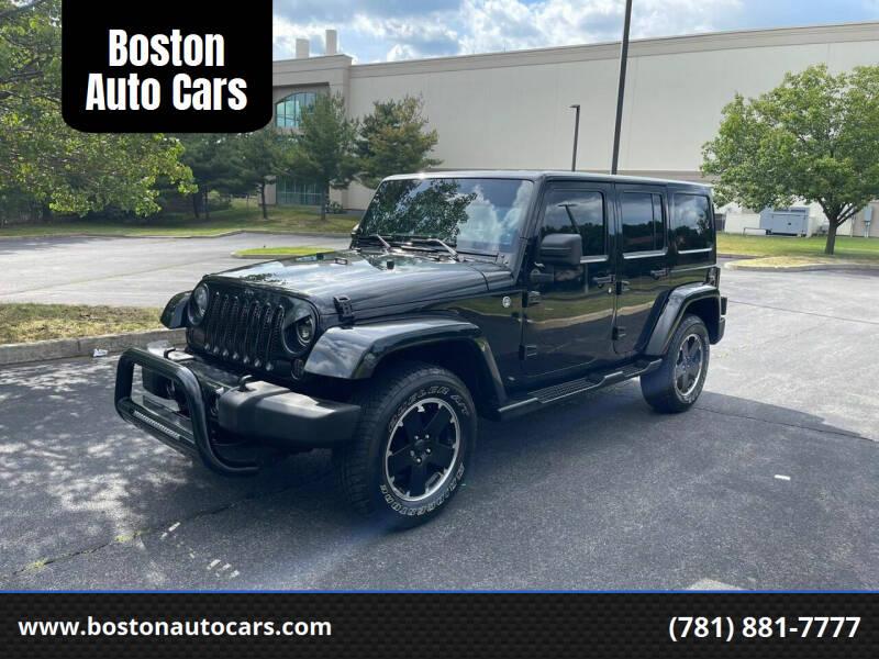 2012 Jeep Wrangler Unlimited for sale at Boston Auto Cars in Dedham MA