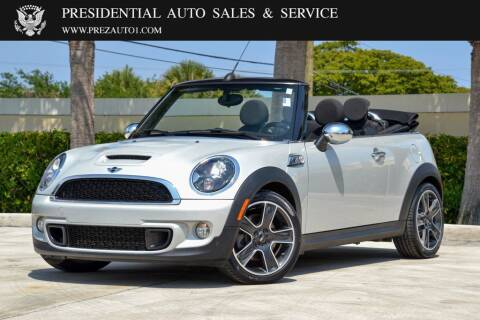 2013 MINI Convertible for sale at Presidential Auto  Sales & Service in Delray Beach FL