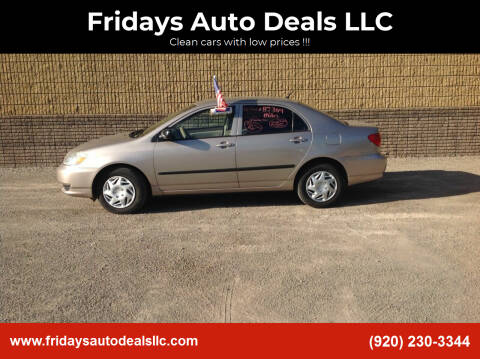 2003 Toyota Corolla for sale at Fridays Auto Deals LLC in Oshkosh WI