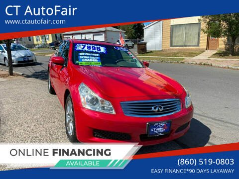2009 Infiniti G37 Sedan for sale at CT AutoFair in West Hartford CT