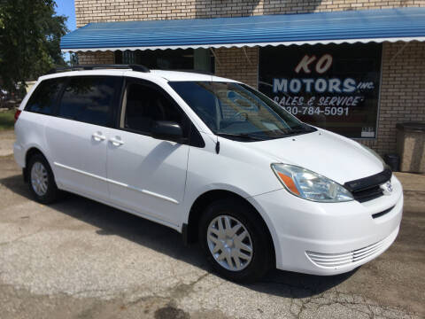 2004 Toyota Sienna for sale at K O Motors in Akron OH