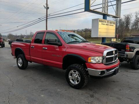 2005 Dodge Ram Pickup 2500 for sale at Route 22 Autos in Zanesville OH