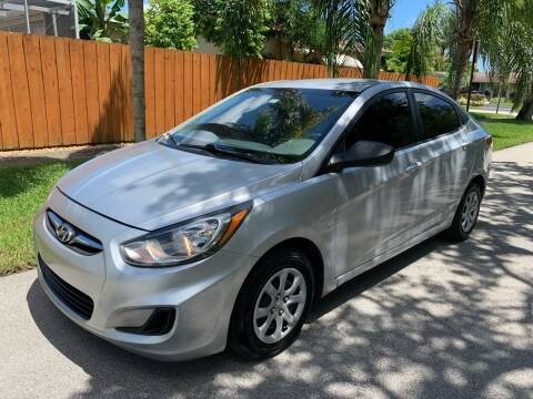 2012 Hyundai Accent for sale at FINANCIAL CLAIMS & SERVICING INC in Hollywood FL
