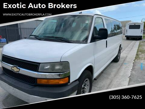 2014 Chevrolet Express Passenger for sale at Exotic Auto Brokers in Miami FL