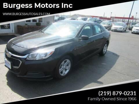 2014 Chevrolet Malibu for sale at Burgess Motors Inc in Michigan City IN