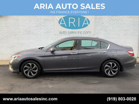 2017 Honda Accord for sale at ARIA  AUTO  SALES in Raleigh NC