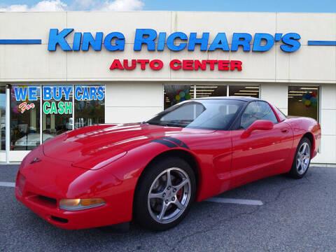 2001 Chevrolet Corvette for sale at KING RICHARDS AUTO CENTER in East Providence RI