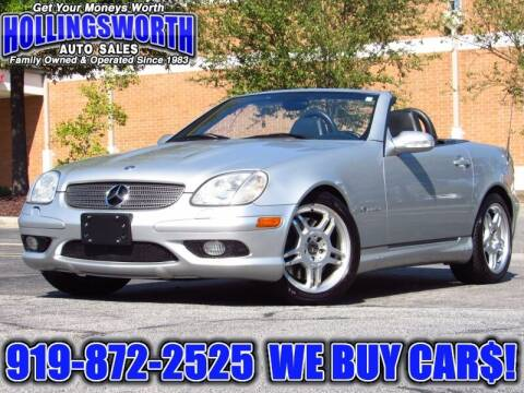 2002 Mercedes-Benz SLK for sale at Hollingsworth Auto Sales in Raleigh NC