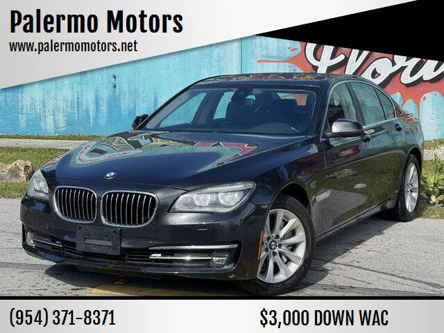 2015 BMW 7 Series for sale at Palermo Motors in Hollywood FL