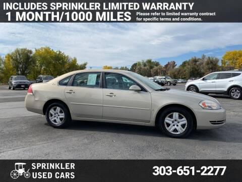 2008 Chevrolet Impala for sale at Sprinkler Used Cars in Longmont CO