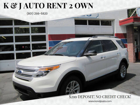 2012 Ford Explorer for sale at K & J Auto Rent 2 Own in Bountiful UT