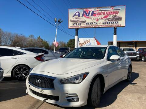 2015 Infiniti Q50 Hybrid for sale at ANF AUTO FINANCE in Houston TX