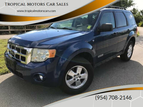 2008 Ford Escape for sale at Tropical Motors Car Sales in Deerfield Beach FL