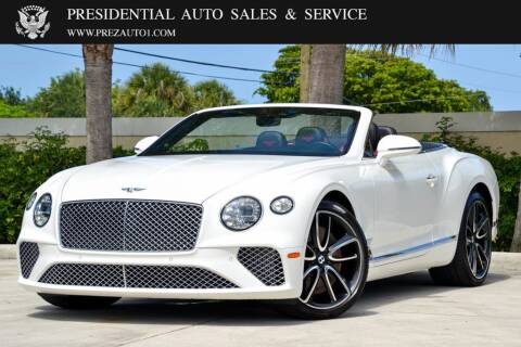 2020 Bentley Continental for sale at Presidential Auto  Sales & Service in Delray Beach FL