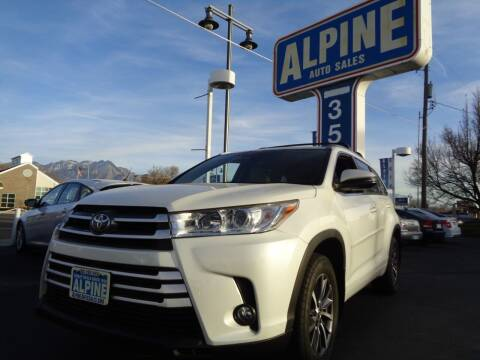 2017 Toyota Highlander for sale at Alpine Auto Sales in Salt Lake City UT