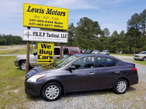 2015 Nissan Versa for sale at Lewis Motors LLC in Deridder LA