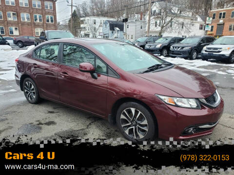 2013 Honda Civic for sale at Cars 4 U in Haverhill MA