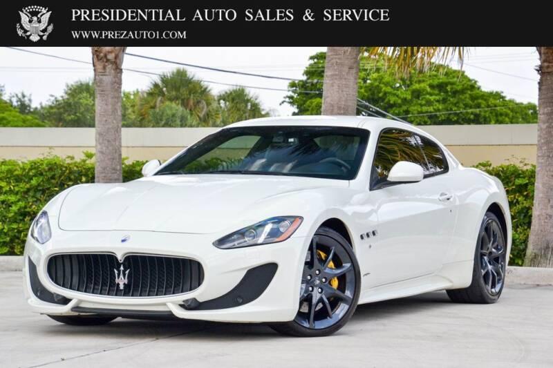 2017 Maserati GranTurismo for sale at Presidential Auto  Sales & Service in Delray Beach FL