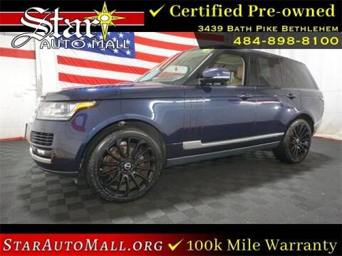 2014 Land Rover Range Rover for sale at STAR AUTO MALL 512 in Bethlehem PA