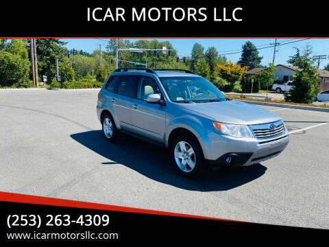 2009 Subaru Forester for sale at ICAR MOTORS LLC in Federal Way WA
