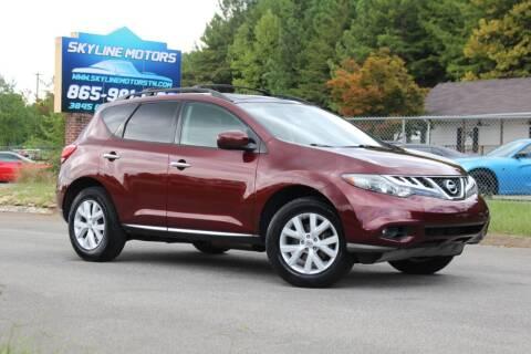 2011 Nissan Murano for sale at Skyline Motors in Louisville TN